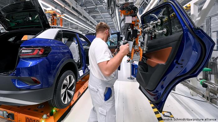 VW's ID.4 production facility in Zwickau, Germany