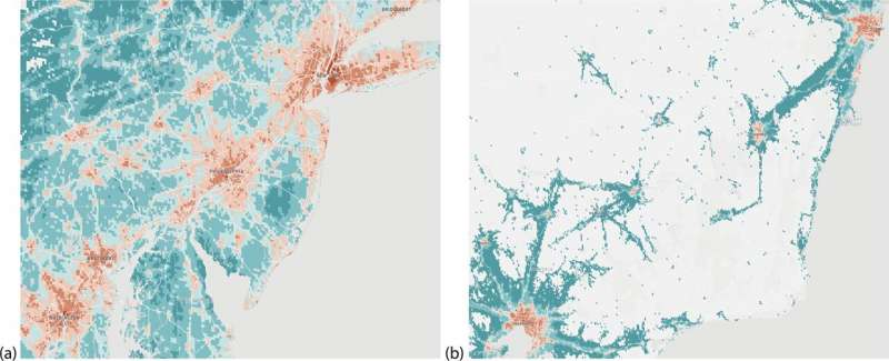 Combining machine learning with smartphone tracking data to forecast the spread of the flu