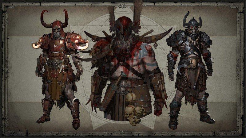 Barbarian Legendary gear in Diablo 4