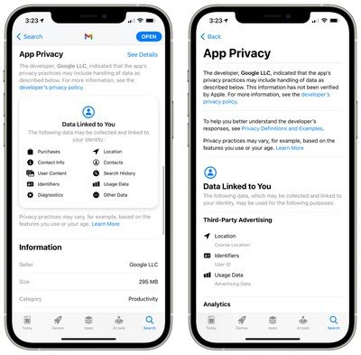 google app privacy