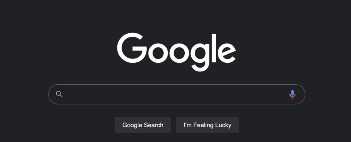 Google dark mode
