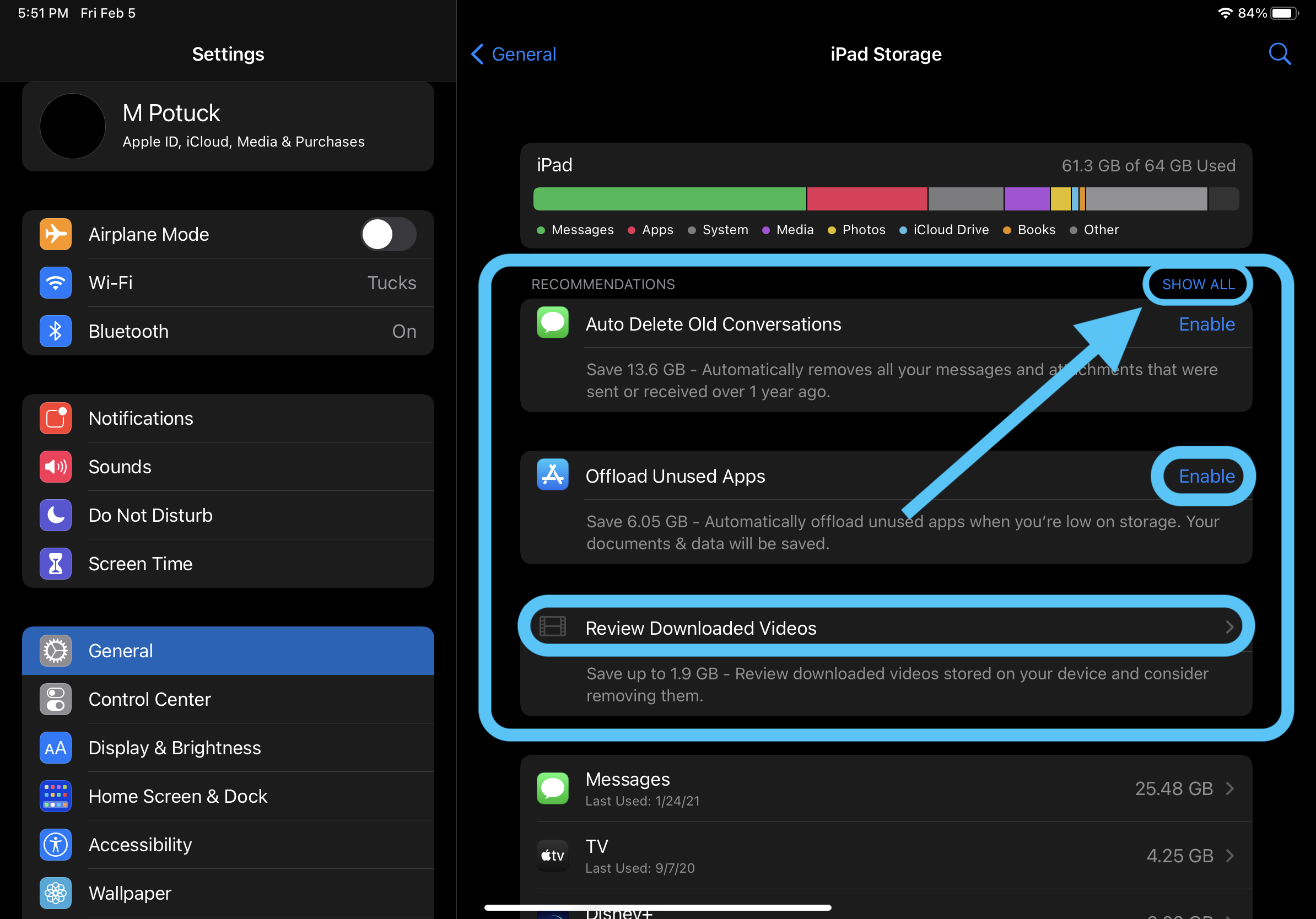 How to quickly free up iPhone/iPad storage space walkthrough 1
