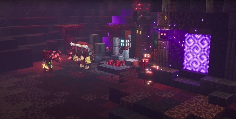 Minecraft Dungeons Flames Of The Nether Dlc Screenshot