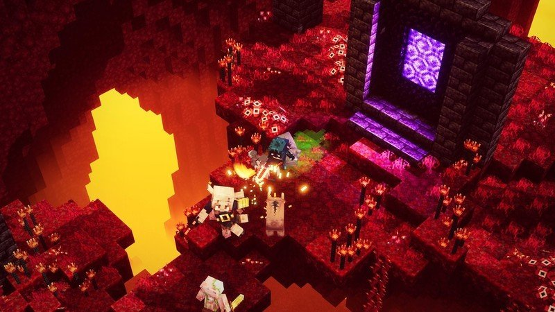 Minecraft Dungeons Flames Of The Nether Dlc Image