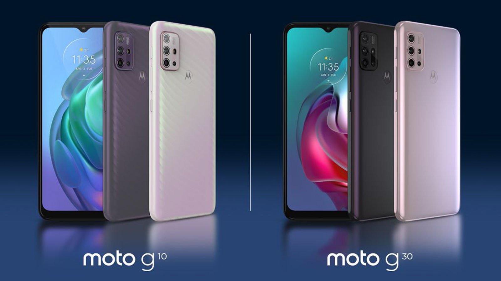 Moto G10 Moto G30 product press image