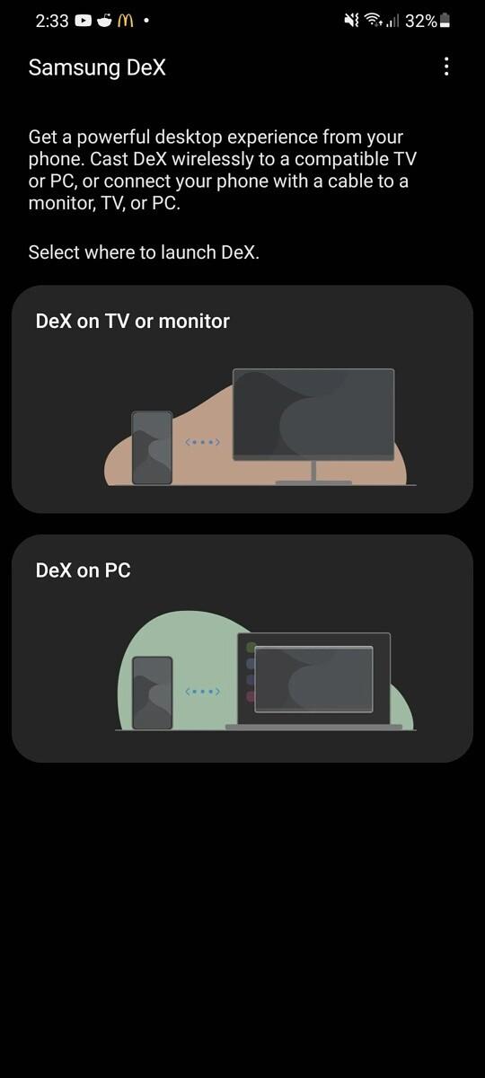 Samsung wireless DeX One UI 3.1
