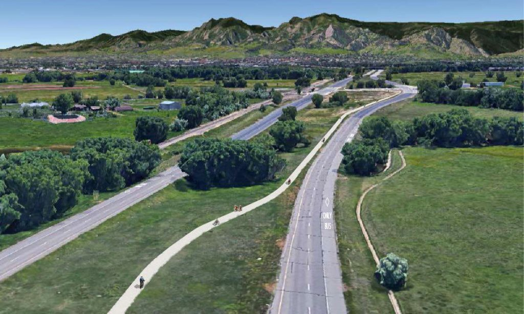 Conceptual rendering of SH 119 Bikeway