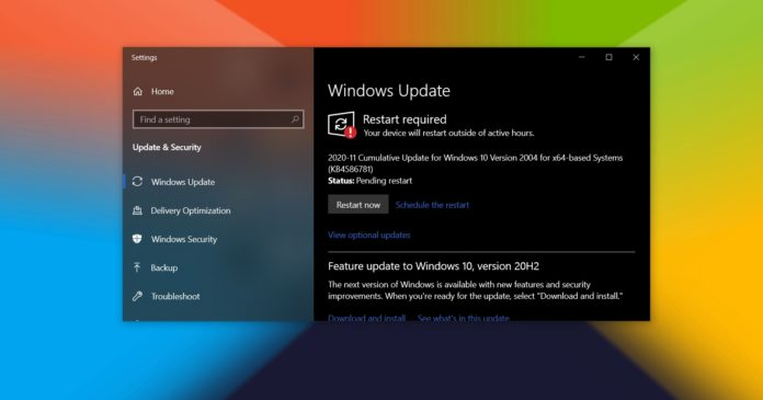 Windows 10 update process