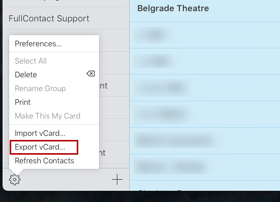 You can also export from iCloud, if you sign in via either a Mac or an iPad