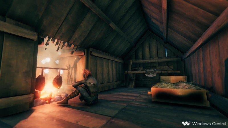 Valheim Sitting By Fire