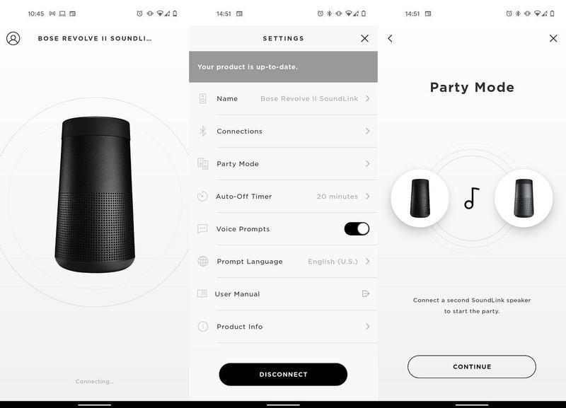 Bose SoundLink Revolve II Connect app
