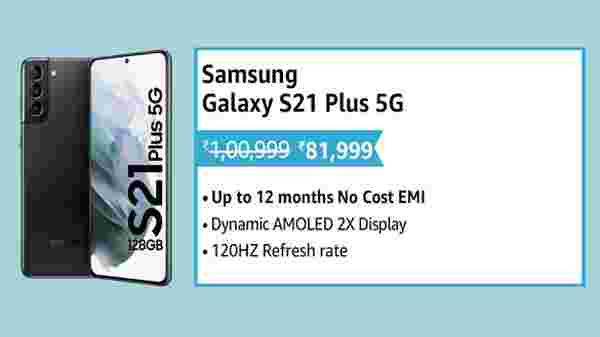 19% Off On Samsung Galaxy S21 Plus 5G