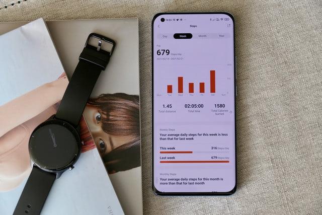 amazfit gtr 2e smartwatch review zepp app steps