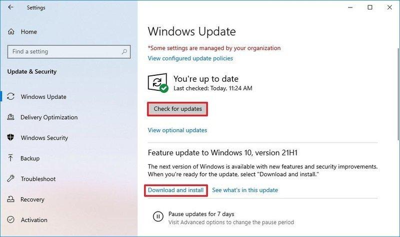 Windows 10 download optional updates