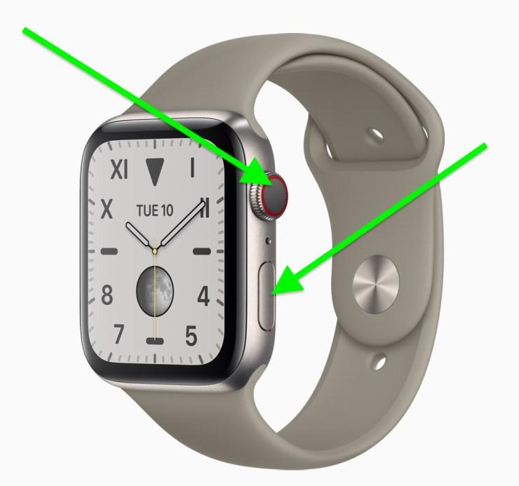 Apple Watch Reset Buttons