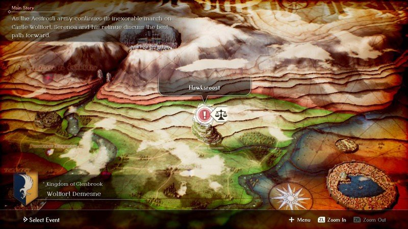 Project Triangle Strategy Overworld