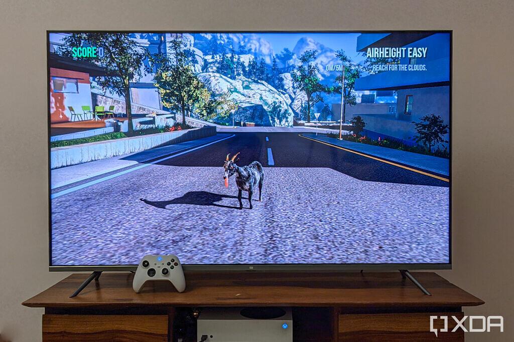 Xiaomi Mi QLED TV 4K 55 inch xbox goat simulator