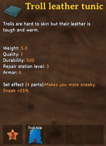 Troll Leather Tunic Craft