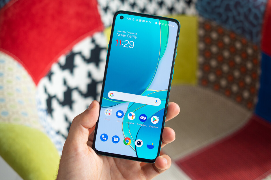 The OnePlus 9 will be virtually identical on the front to the OnePlus 8T (shown here) - OnePlus 9 vs OnePlus 8T: early comparison