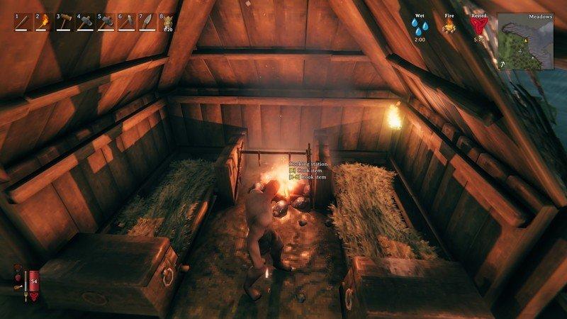Valheim Firepit Beds Wet