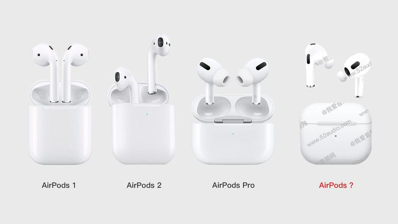 AirPods 3 design: Leaked photo from 52audio