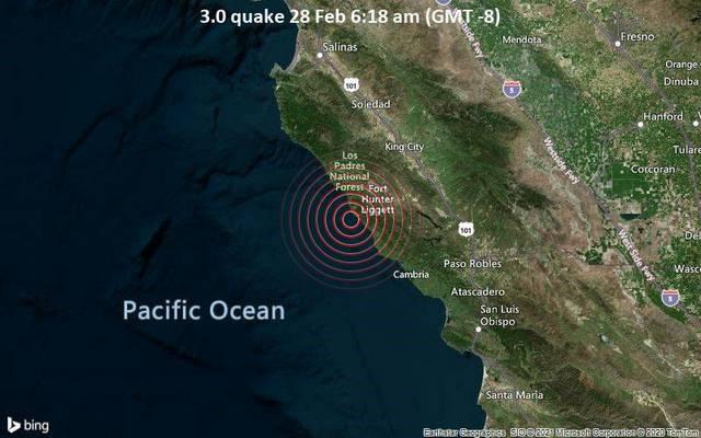 3.0 quake 28 Feb 6:18 am (GMT -8)