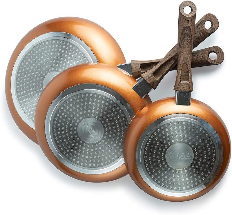 Copper sided pans