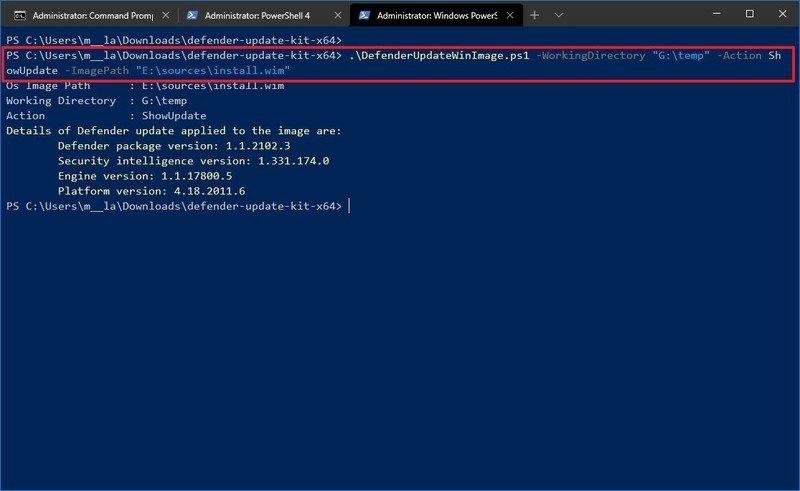 Microsoft Defender Antivirus update details