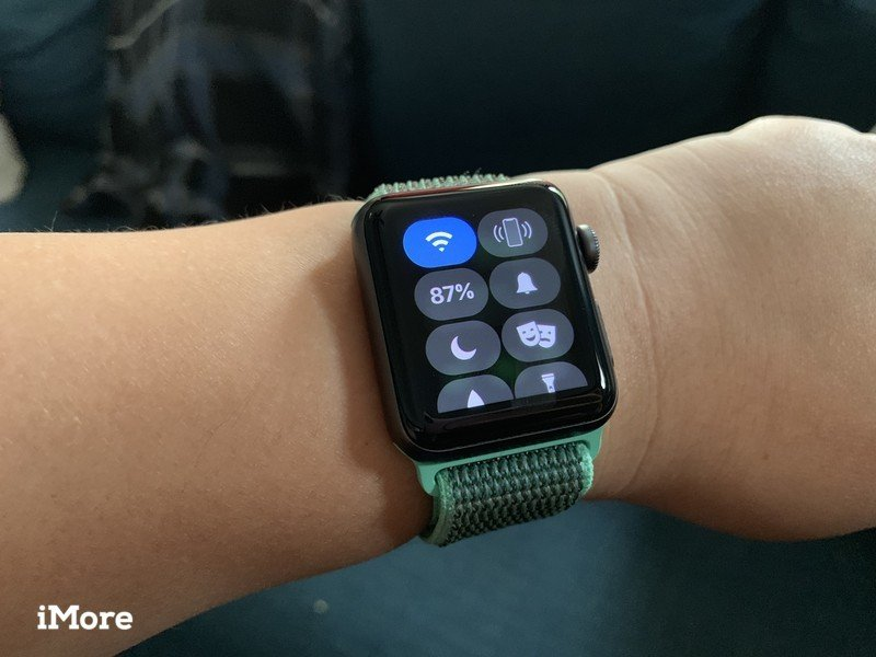 Apple Watch series 3 with Wi-Fi Control Center