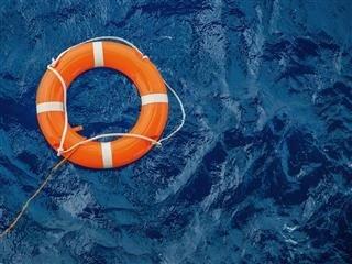 life preserver floating in water