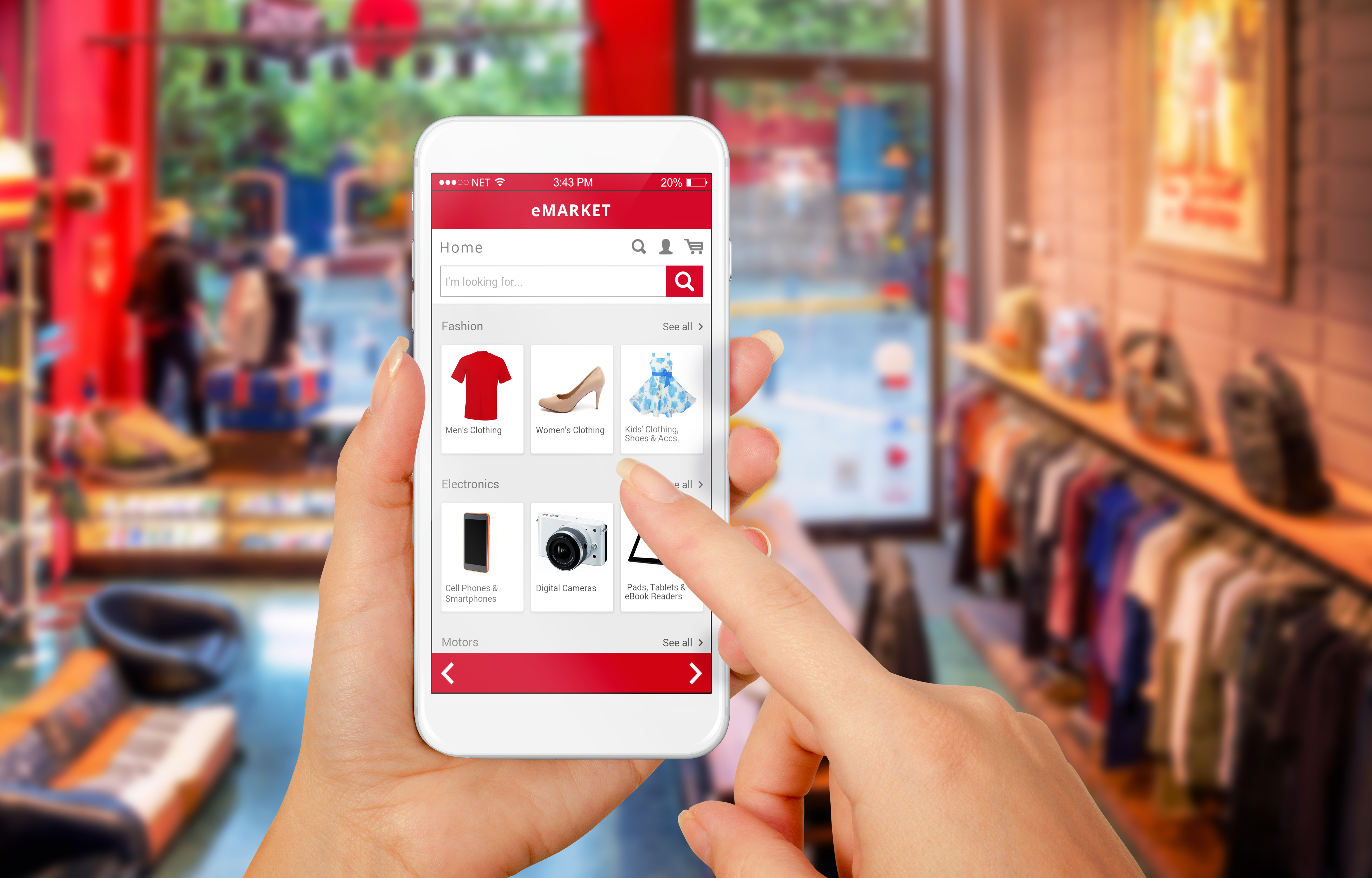 Smartphone being used to complete an e-commerce purchase
