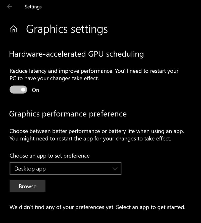 Windows Hardware Gpu Scheduling