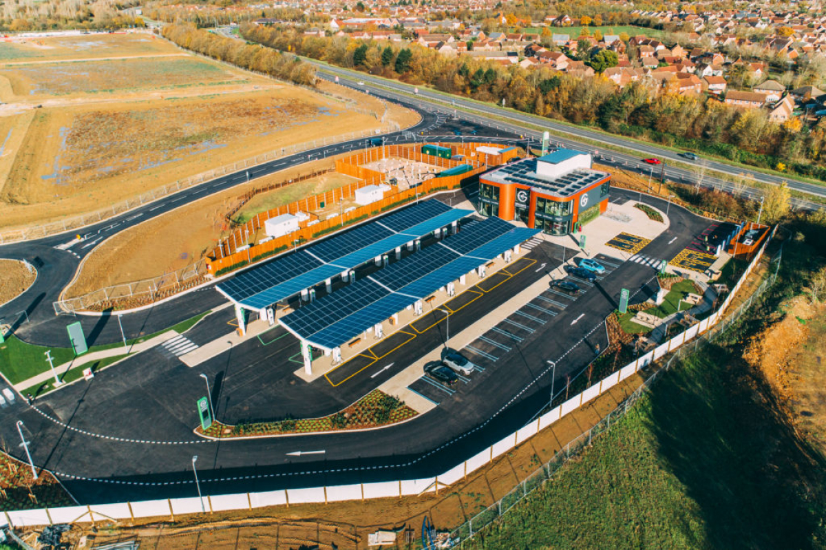 UK's first electric vehicle forecourt opens in Essex Image