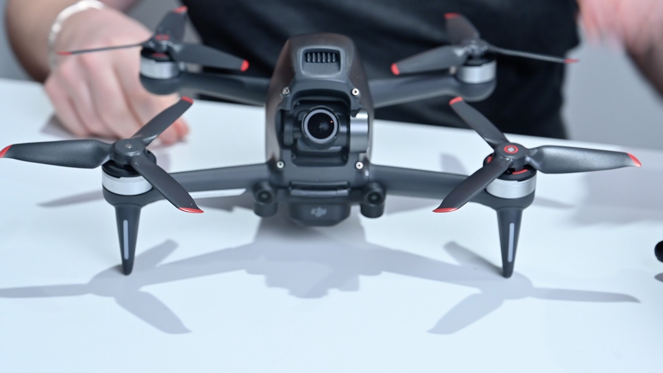 The front of the DJI FPV drone