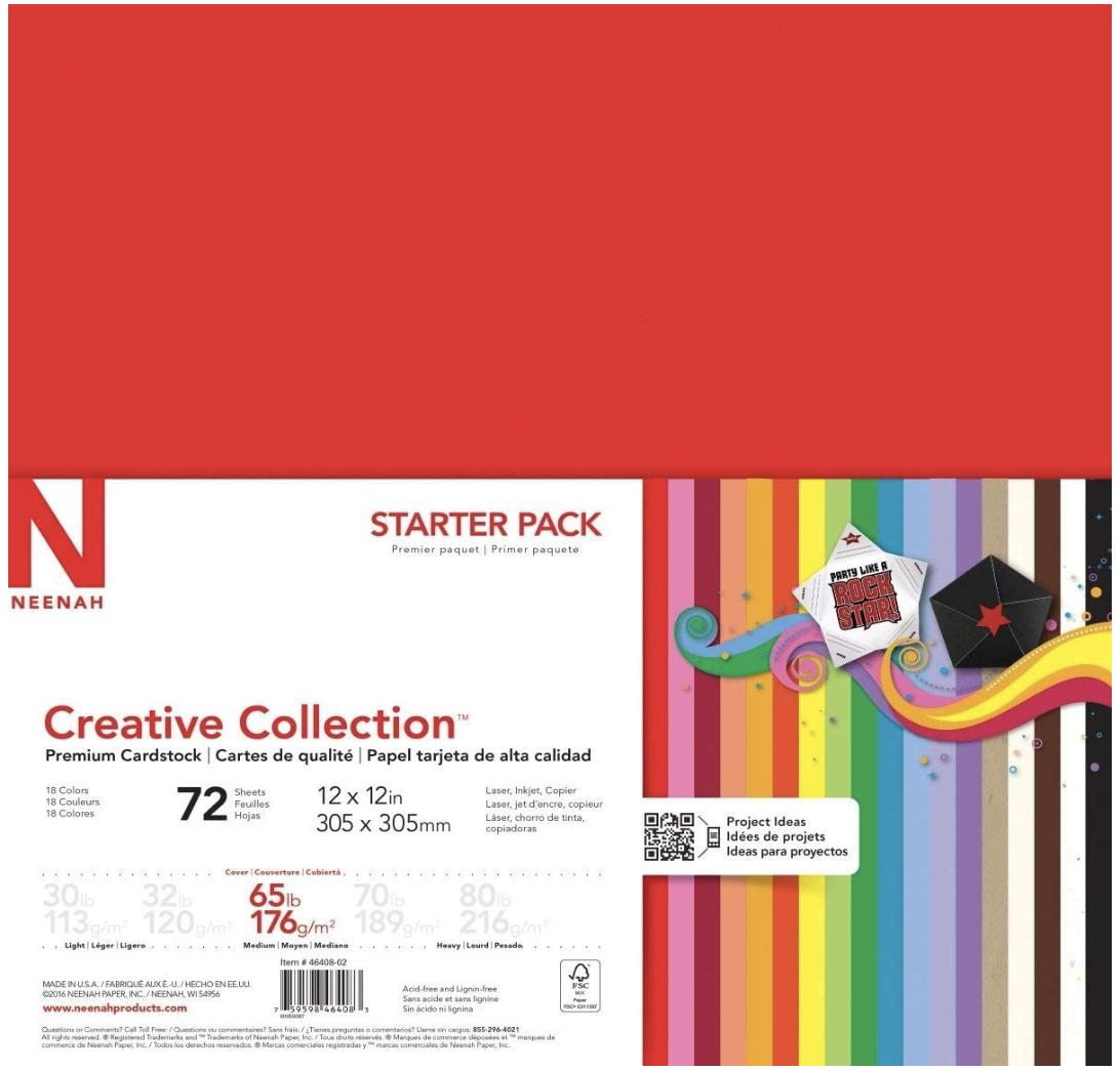 Neenah Creative Collection Specialty Cardstock Starter Kit