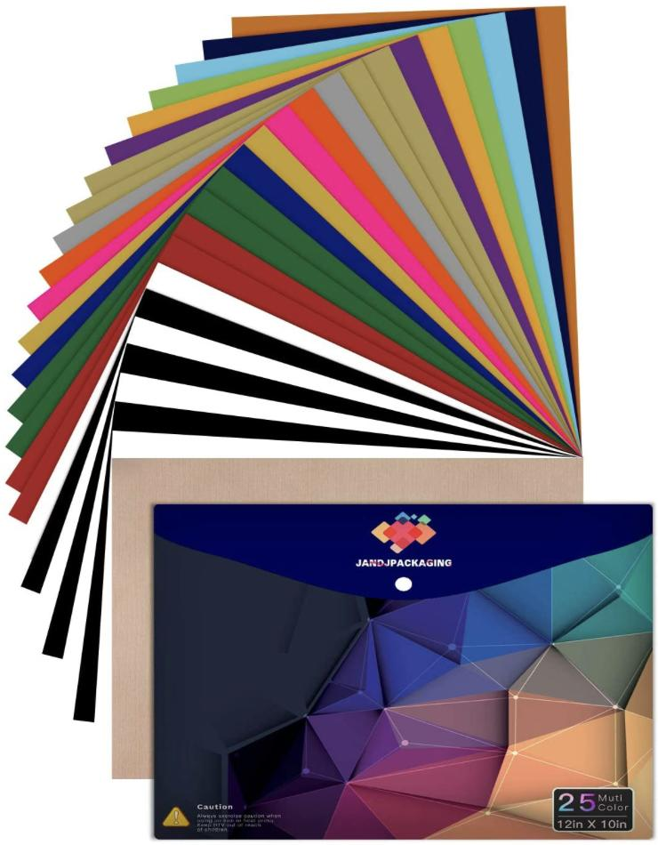 JANDJPACKAGING Heat Transfer Vinyl HTV Bundle