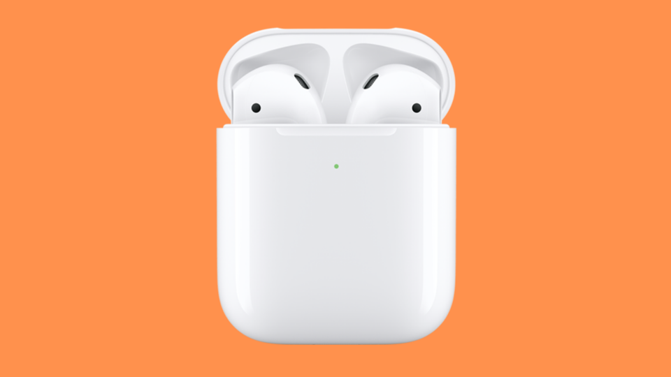 Lay the case on a charging pad, and your Apple AirPods juice with no wires. (Photo: Apple)