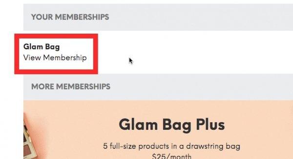 How to Cancel Ipsy Membership - View Membership