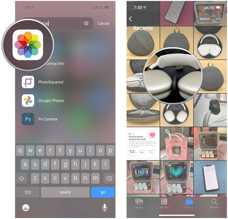 AirPlay Photos to your TV from iPhone by showing Launch Photos, tap Photo or video