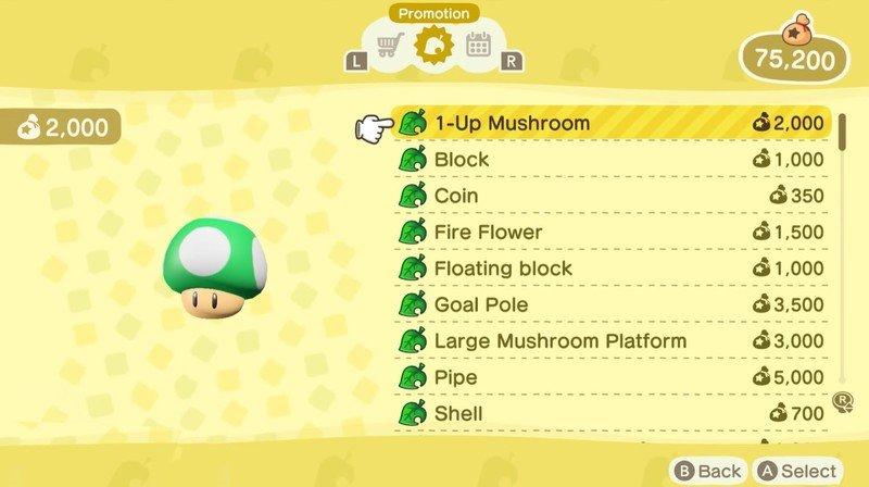 Acnh Nook Shopping Mario Items