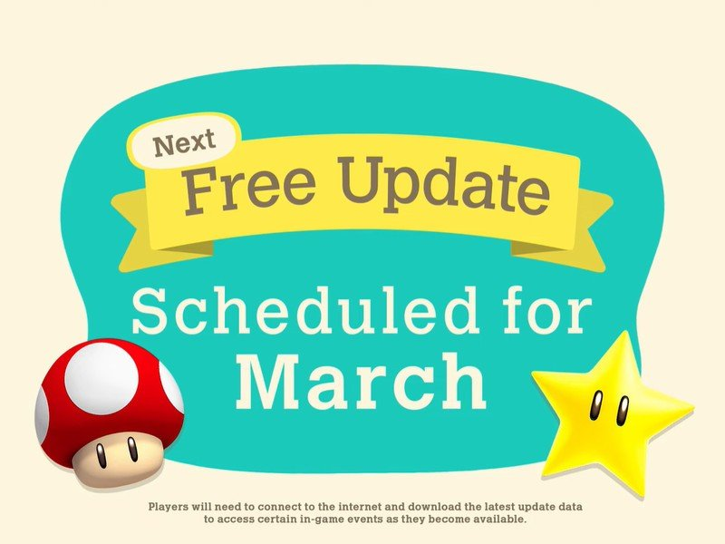 Acnh March Mario Update