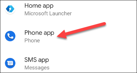 set default phone