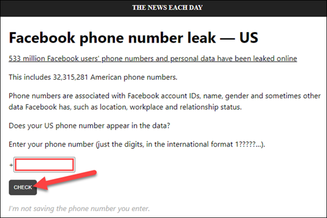 check phone number