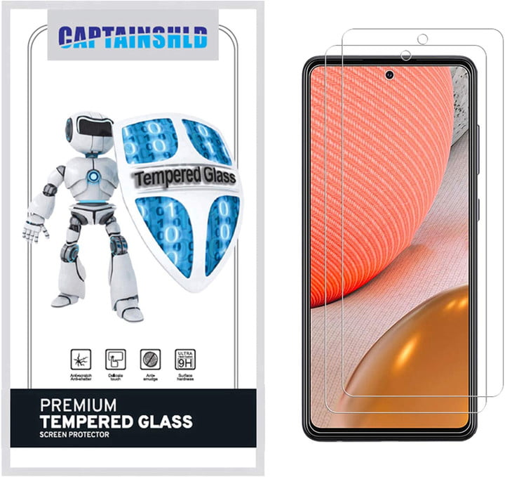 CaptainShld Tempered Glass Screen Protector for Samsung Galaxy A72