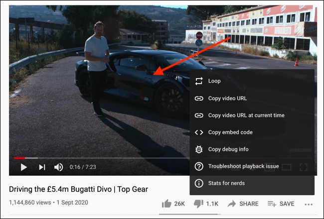Right-click again from video window