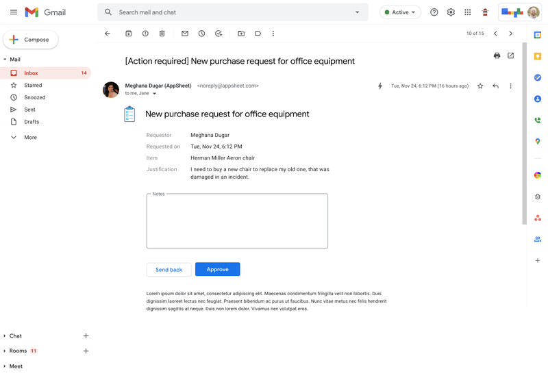 Google AppSheet Automation