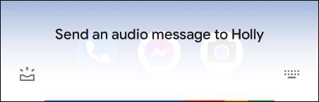 send an audio message