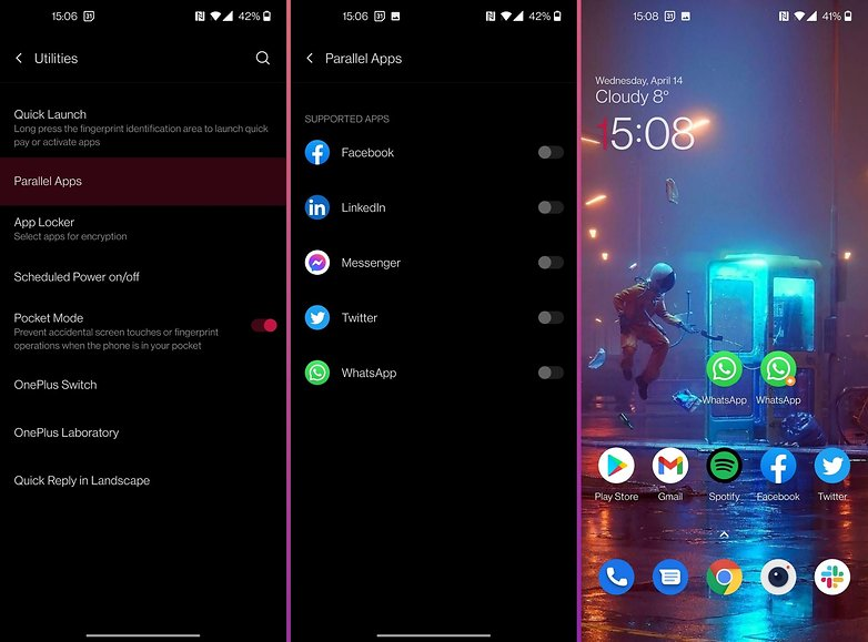 oneplus oxygenos tips tricks parallel apps