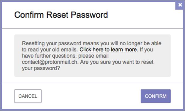 confirm your password reset