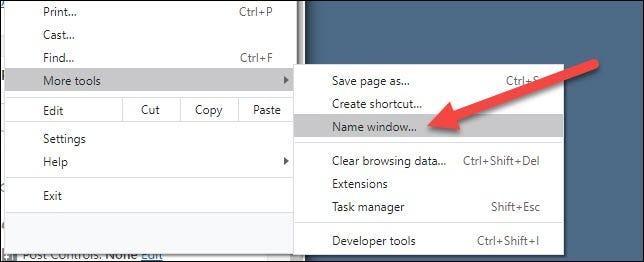 click Name Window